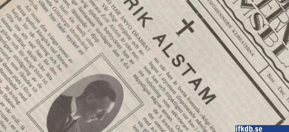 Alstams död chockade Kamraterna
