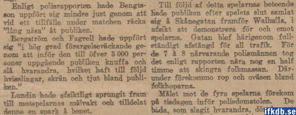 Svenska Dagbladet (30/7 1913) om saken.