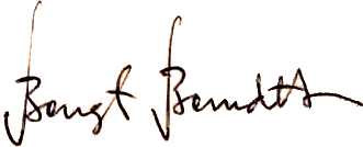 Bengt Berndtsson, signatur