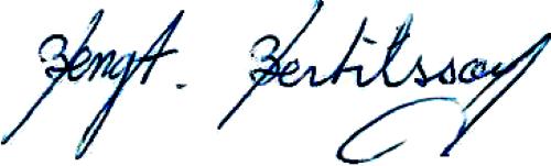 Bengt Bertilsson, signatur