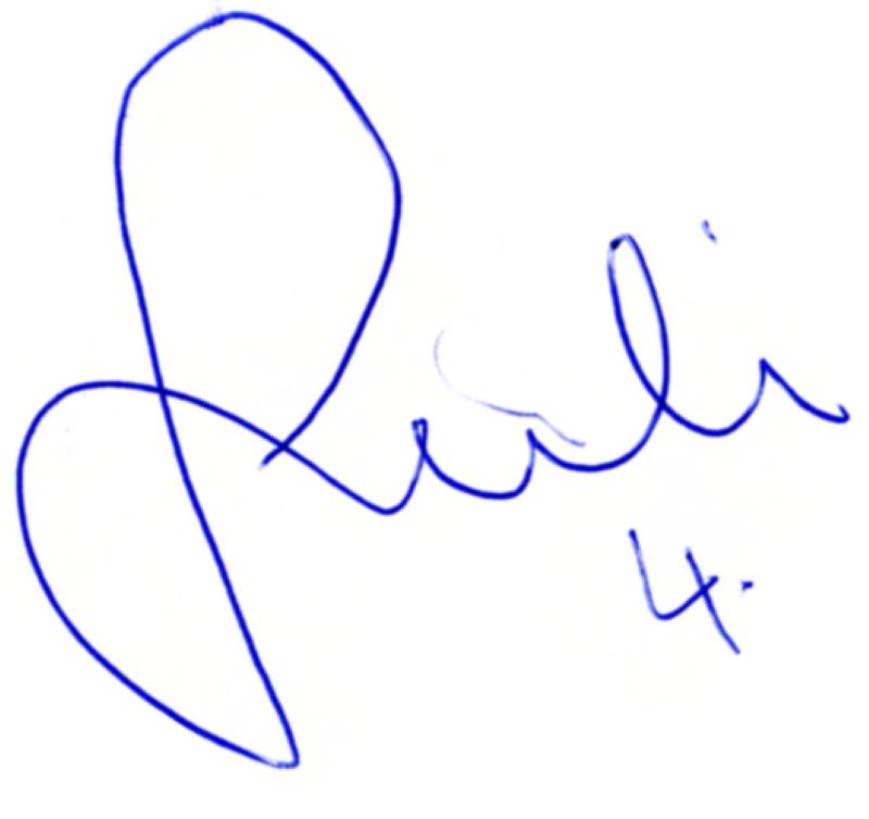 Joachim Björklund, signatur