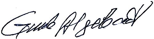 Gunde Algebäck, signatur