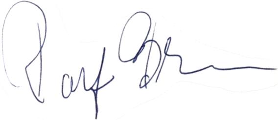 Ralf Blom, signatur