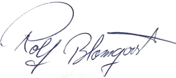 Rolf Blomqvist, signatur