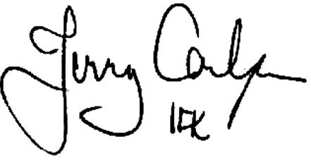 Jerry Carlsson, signatur
