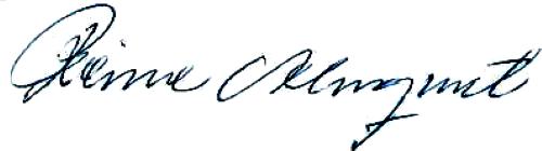 Reine Almqvist, signatur