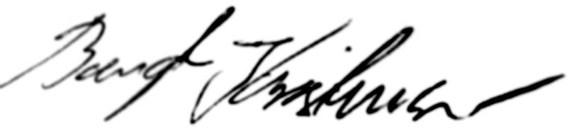 Bengt Kristensen, signatur