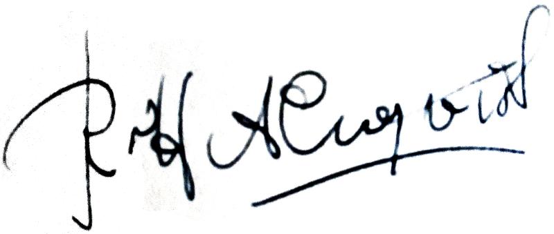 Rolf Almqvist, signatur