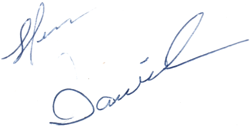 Sten Danielsson, signatur