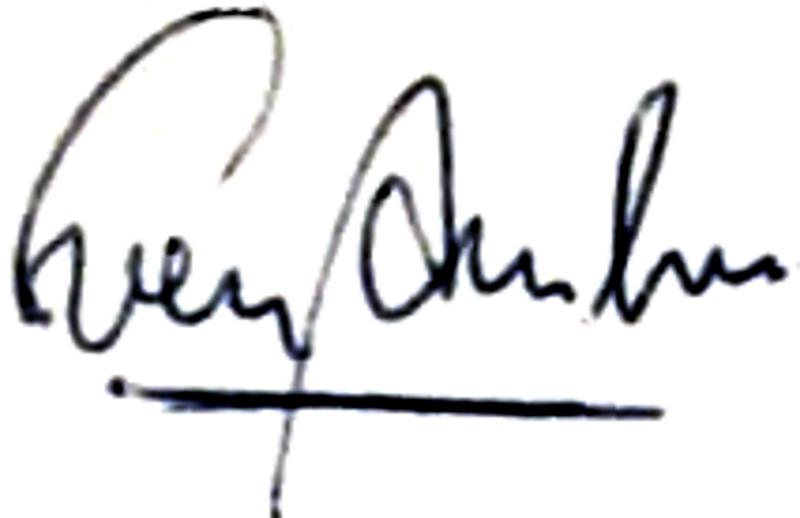 Sven Danielsson, signatur