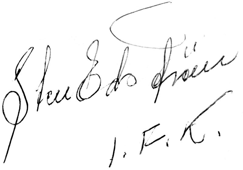 Sten Edström, signatur