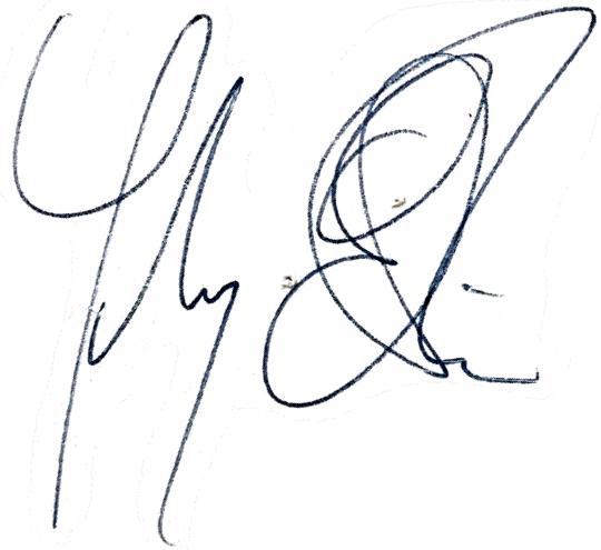 Johnny Ekström, signatur
