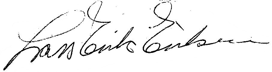 Lars-Erik Eriksson, signatur