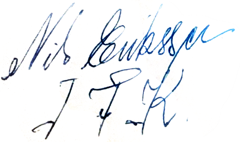 Nils Eriksson, signatur