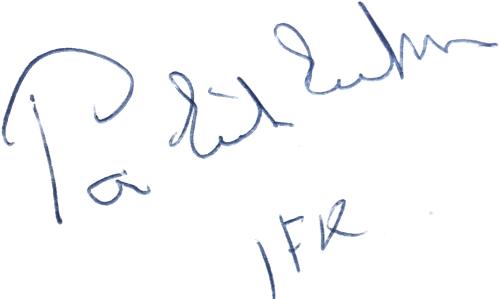 Per-Erik Eriksson, signatur