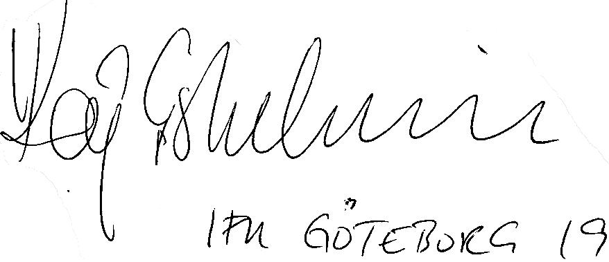 Kaj Eskelinen, signatur