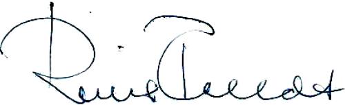 Reine Feldt, signatur
