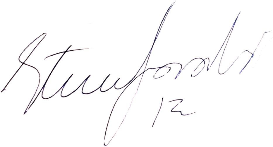Steve Gardner, signatur