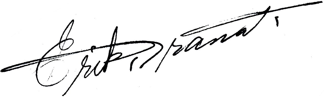 Erik Granath, signatur