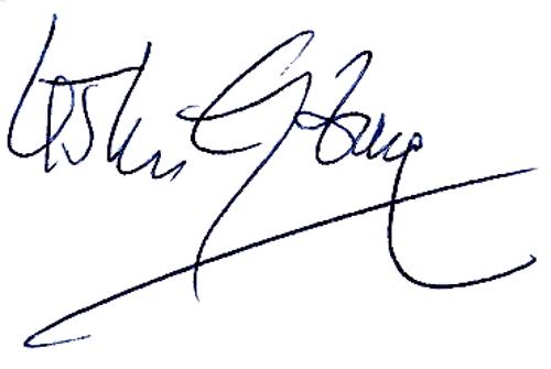 Krister Granbom, signatur