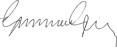 Gunnar Gren, signatur