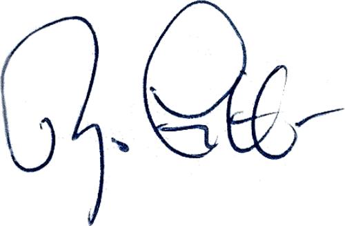 Magnus Gustafsson, signatur