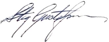 Stig Gustafsson, signatur