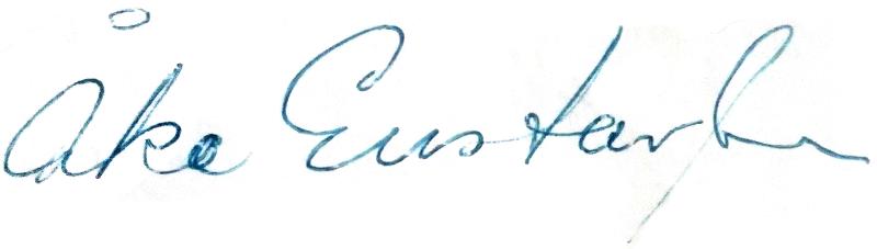 Åke Gustavsson, signatur