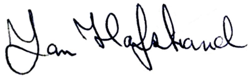 Jan Hafstrand, signatur