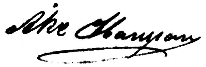 Åke Hansson, signatur