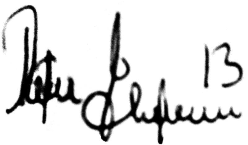 Peter Hedman, signatur