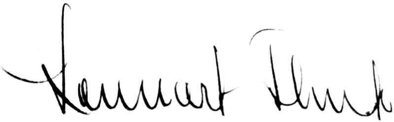 Lennart Flink, signatur