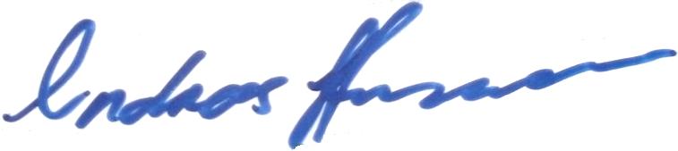 Andreas Hermansson, signatur