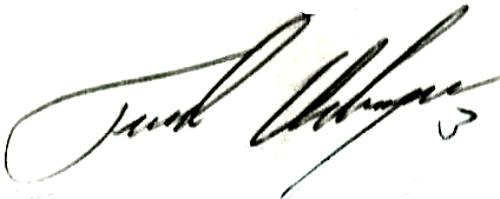Tord Holmgren, signatur