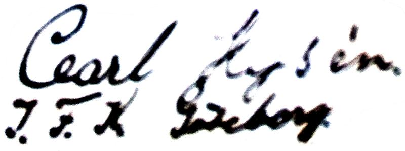Carl Hysén, signatur