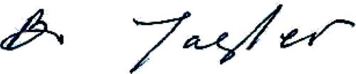 Bo Jagler (Johansson), signatur
