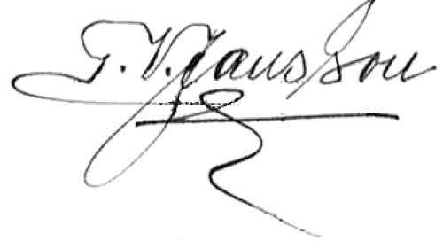 Verner Jansson, signatur