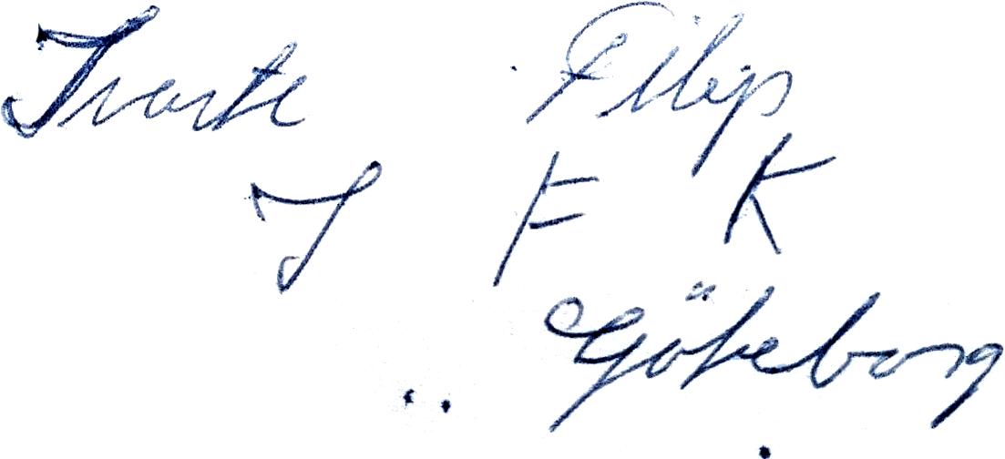 Filip Johansson, signatur
