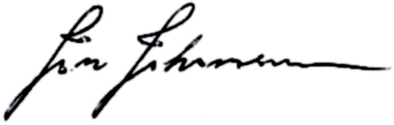 Jan Carlstedt (Johansson), signatur