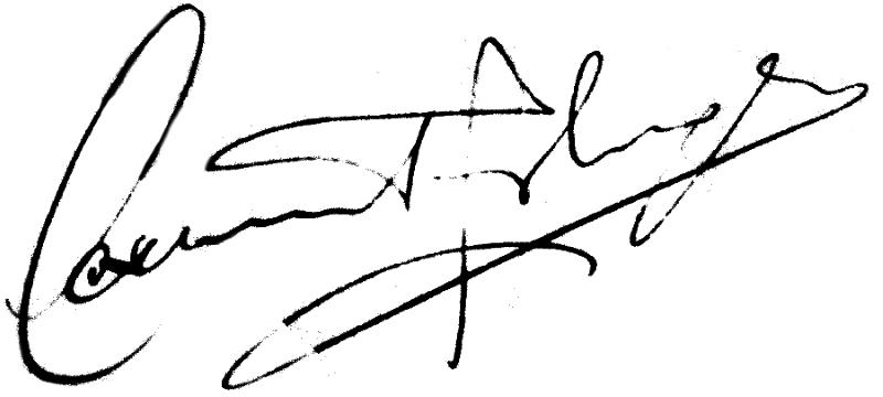 Lennart Johansson, signatur