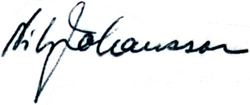 Nils Johansson, signatur