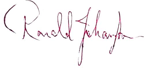 Ronald Johansson, signatur
