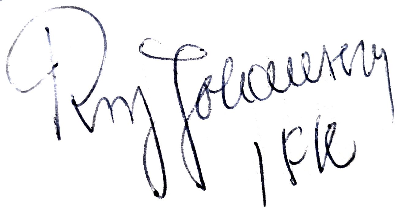 Roy Johansson, signatur