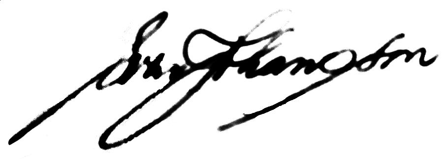 Sven Johansson, signatur