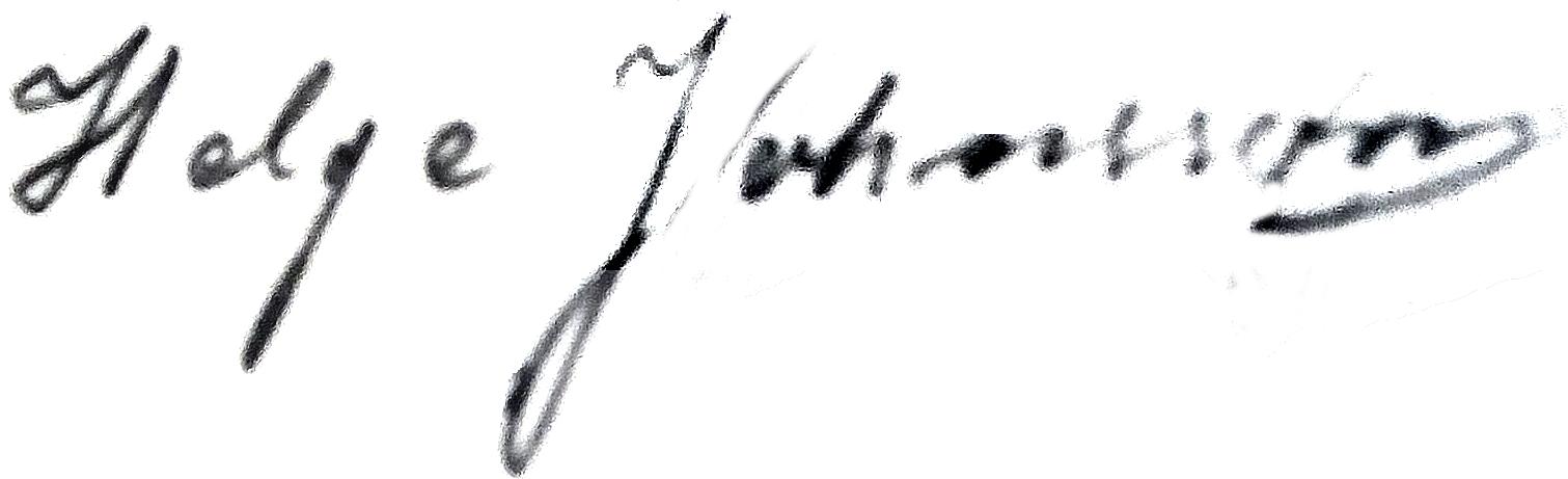 Helge Jonsson, signatur