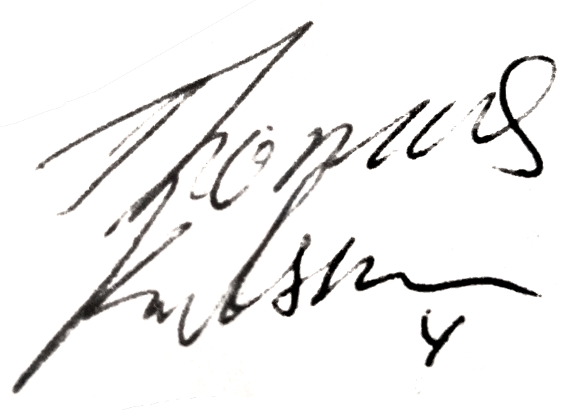 Thomas Karlsson, signatur