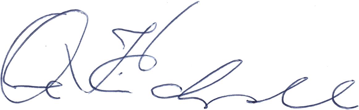 Ove Kindvall, signatur