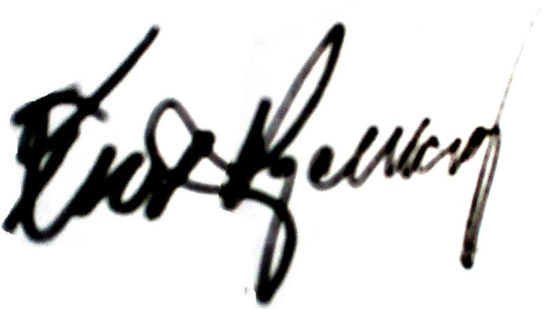 Kurt Kjellberg, signatur