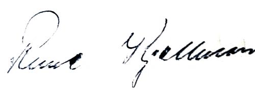 Rune Kjellman, signatur