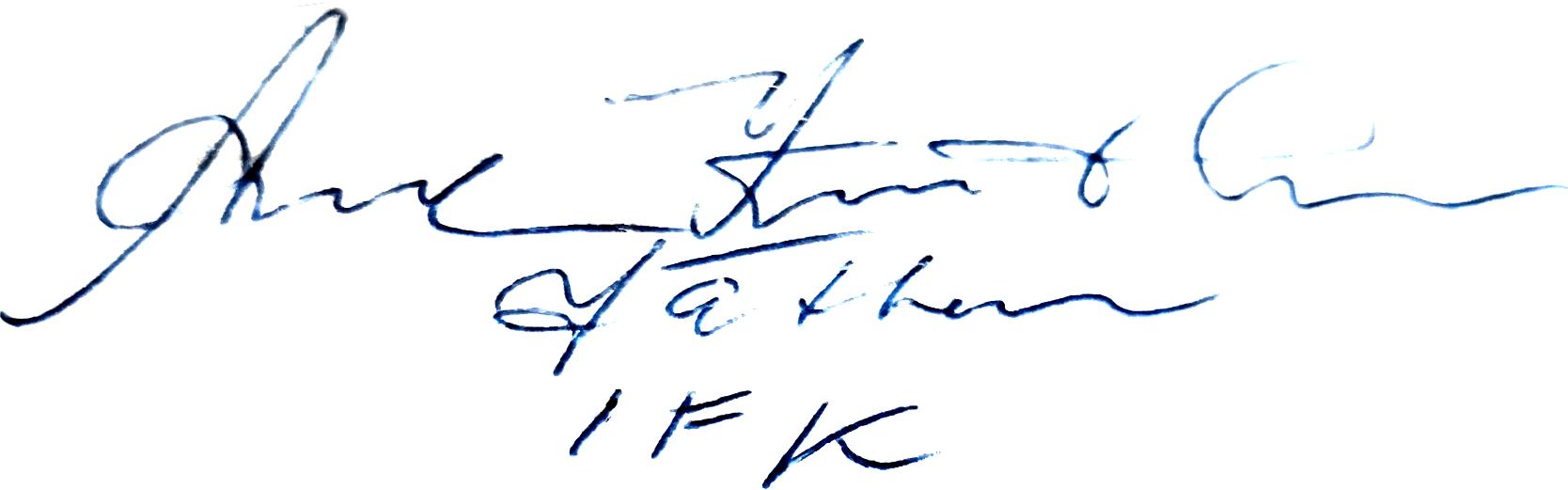 Arne Knutsson, signatur